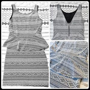 Skinny ruffled waist dress